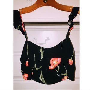 Lush Boutique Floral Crop Top